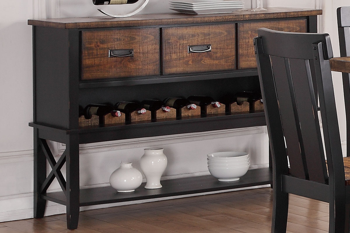 Poundex F6050 Adele maddison ii two tone finish wood dining server buffet console