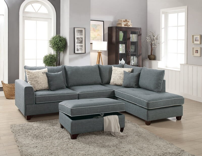 reversible sectional inspirations sofa teal with chaise fabric