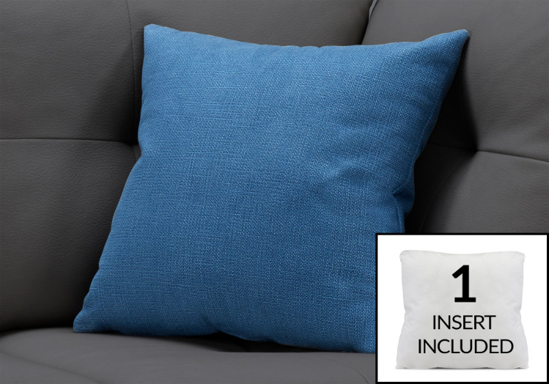 """PILLOW - 18""""X 18"""" / PATTERNED BLUE / 1PC"""