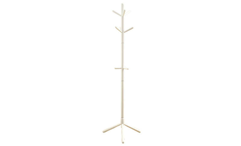 """COAT RACK - 69""""H / WHITE WOOD CONTEMPORARY STYLE"""