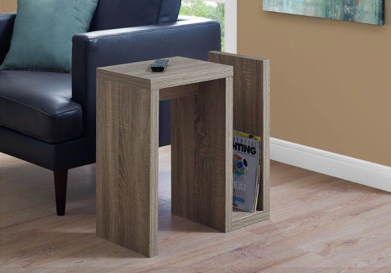 "Accent Table - 24""H / Dark Taupe"