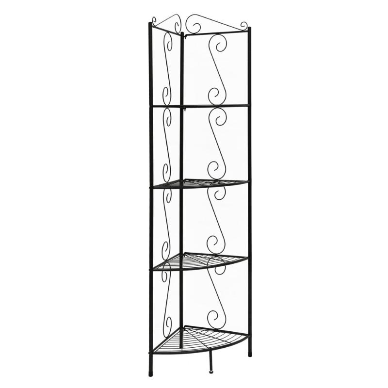 "Bookcase - 70""H / Copper Metal Corner Etagere"