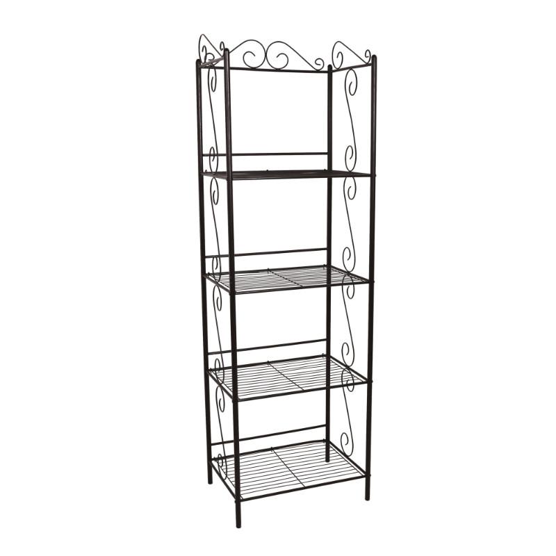 "Bookcase - 70""H / Copper Metal Etagere"
