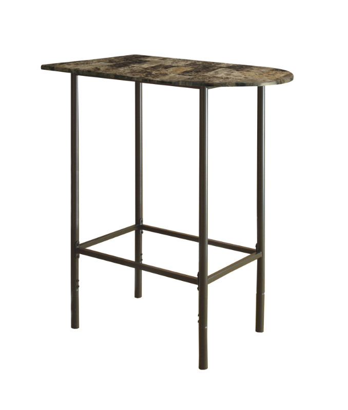 "HOME BAR - 24""X 36"" CAPPUCCINO MARBLE METAL"