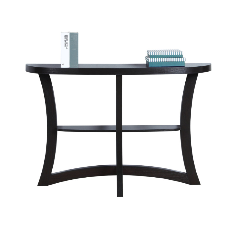"Accent Table - 47""L / Cappuccino Hall Console"