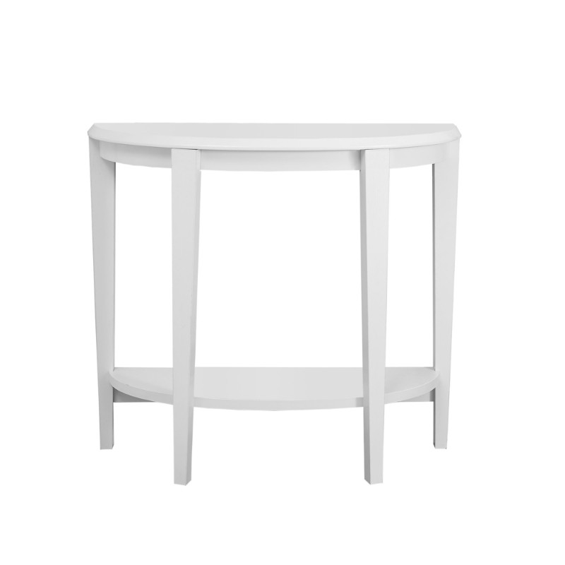 "Accent Table - 36""L / White Hall Console"
