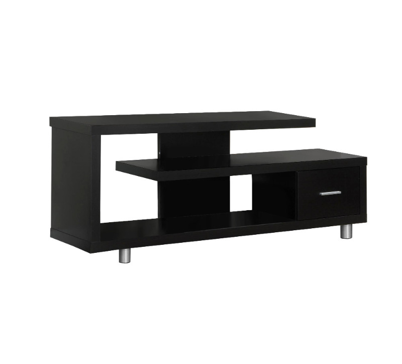 """TV STAND - 60""""L / ESPRESSO WITH 1 DRAWER"""