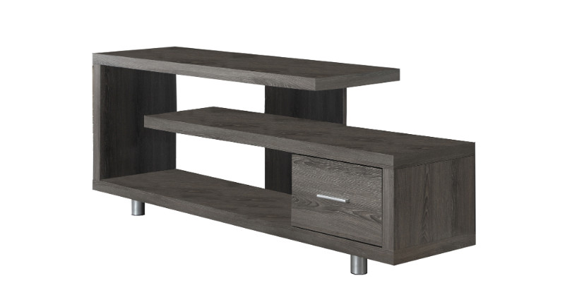 """Tv Stand - 60""""L / Dark Taupe With 1 Drawer"""