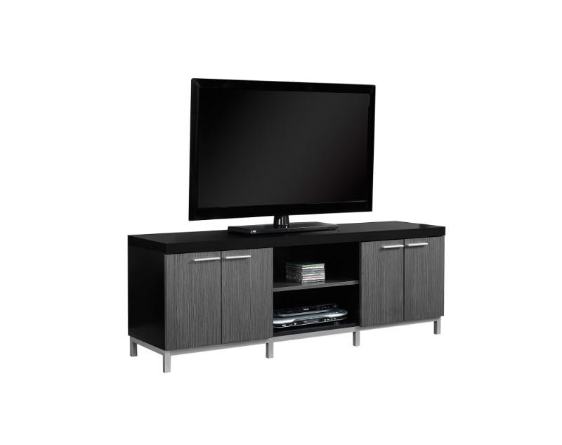 "Tv Stand - 60""L / Black / Grey"