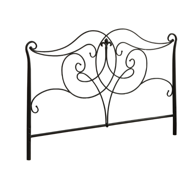 Bed - Queen Or Full Size / Satin Black Head Or Footboard