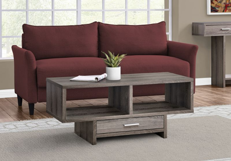 Coffee Table - Dark Taupe With Storage