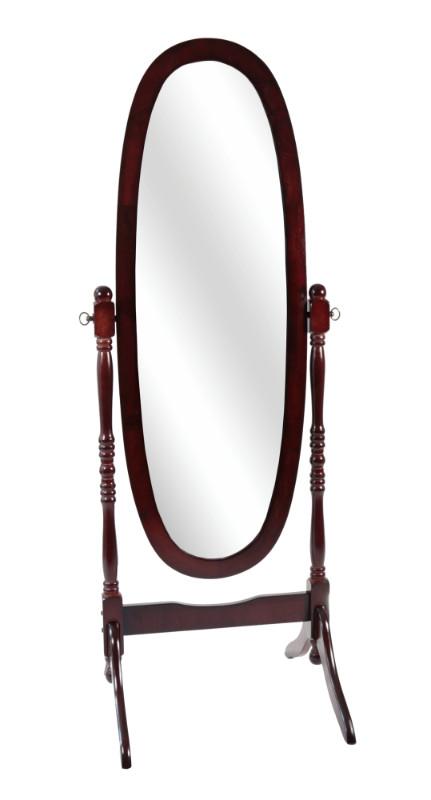"""Mirror - 59""""H / Walnut Oval Wood Frame"""