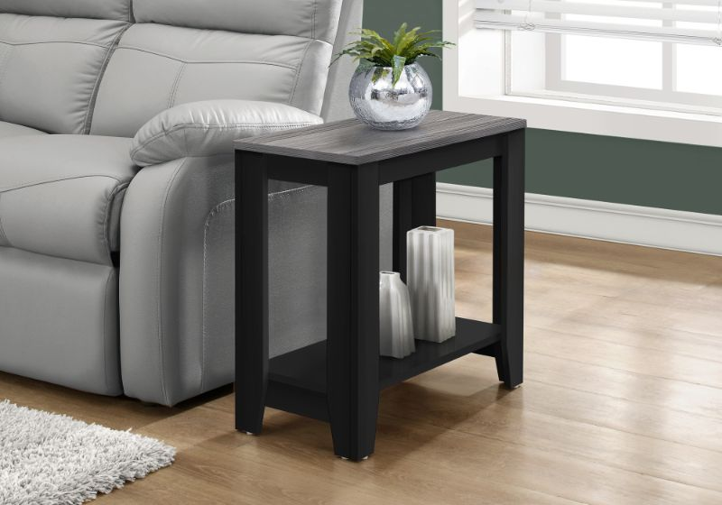 Accent Table - Black / Grey Top