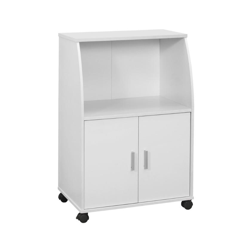"Kitchen Cart - 33""H / White On Castors"
