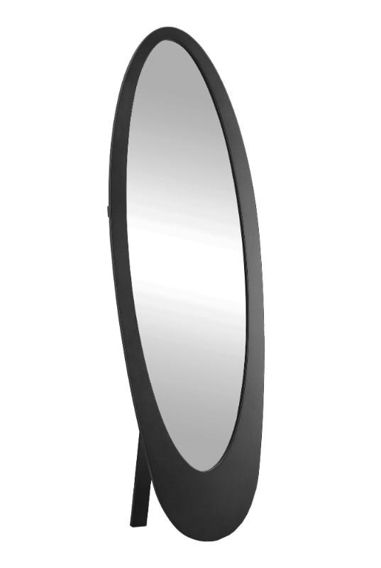 "Mirror - 59""H / Black Contemporary Oval Frame"