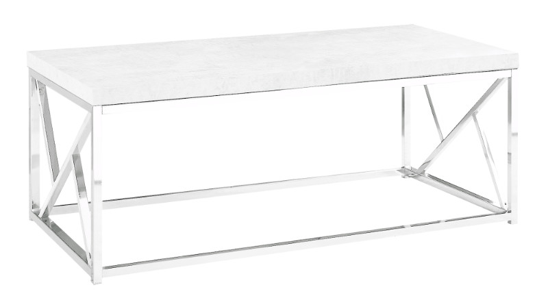 Coffee Table - Grey Cement With Chrome Metal