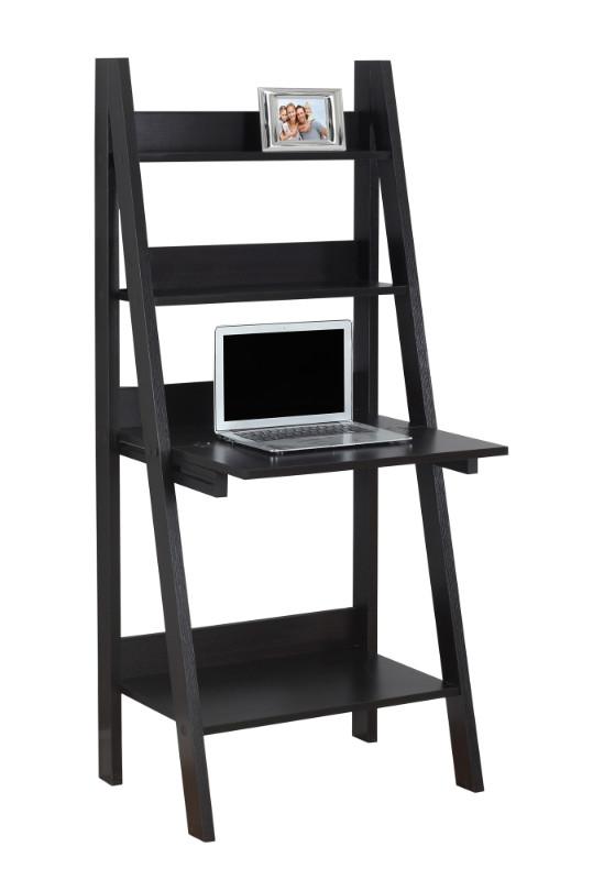 "Computer Desk - 61""H / Cappuccino Ladder Style"