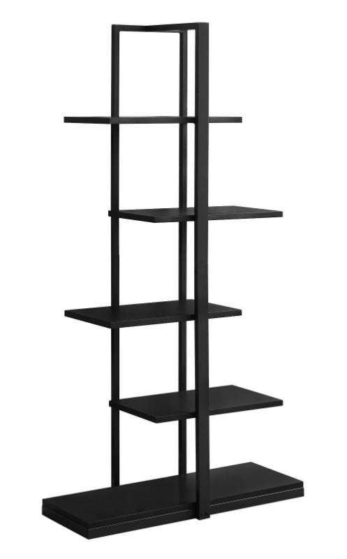 "Bookcase - 60""H / Black / Black Metal"