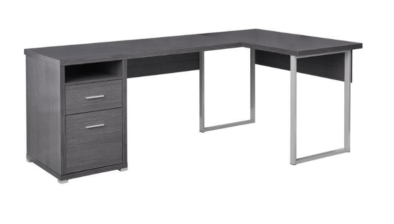 "Computer Desk - 80""L / Grey Left Or Right Facing"