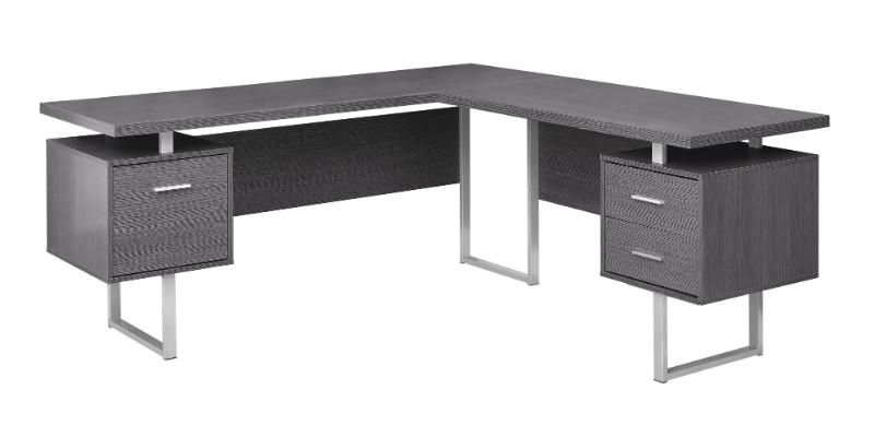 "Computer Desk - 70""L / Grey Left Or Right Facing"