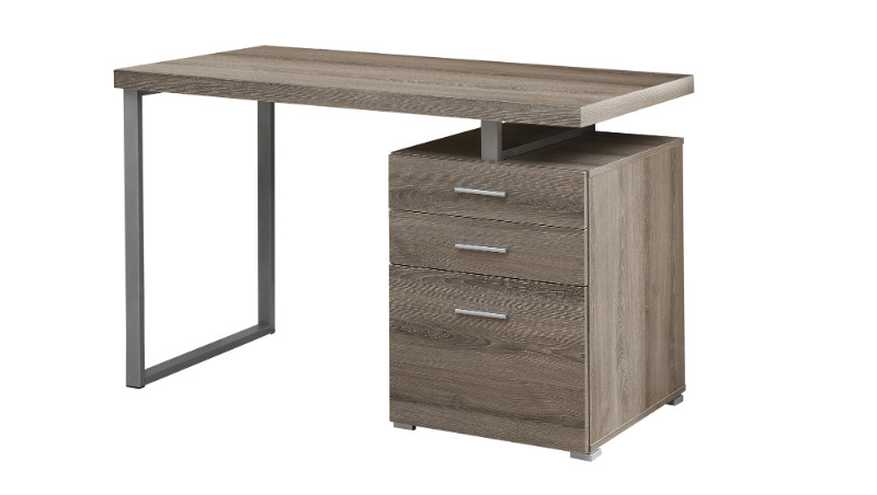 """Computer Desk - 48""""L / Dark Taupe Left Or Right Facing"""