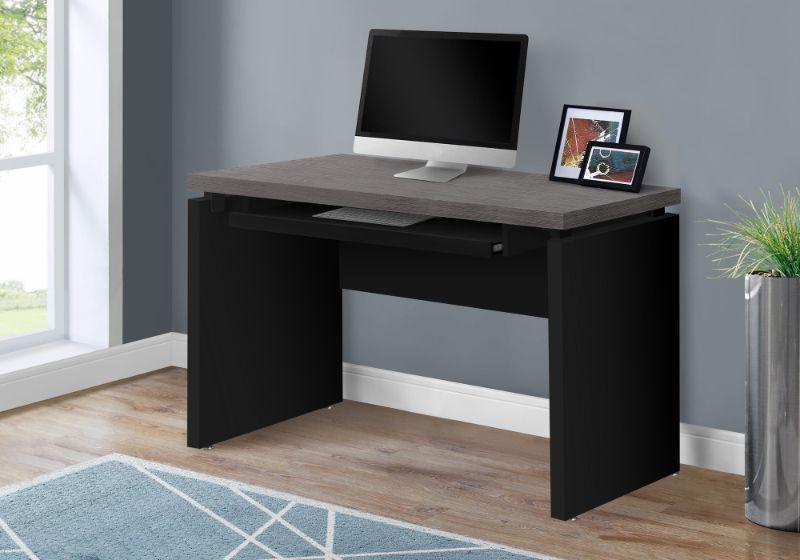 """Computer Desk - 48""""L / Black / Grey Top"""