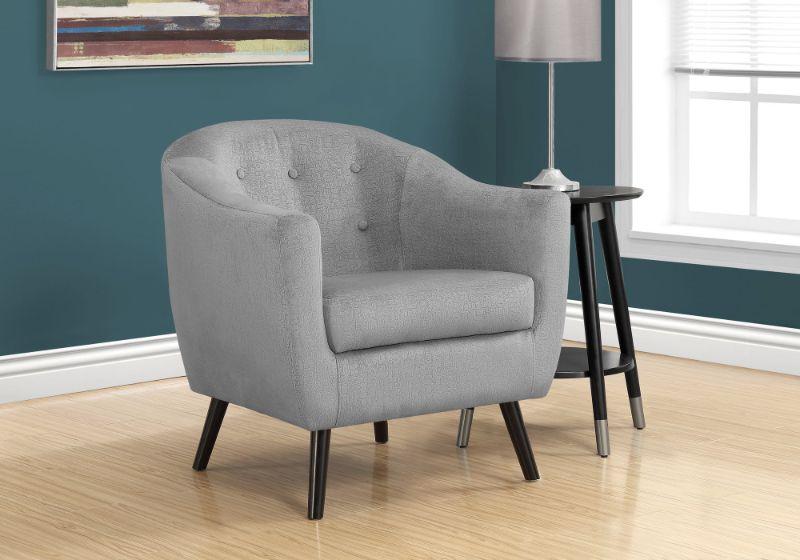 Accent Chair - Grey Mosaic Velvet