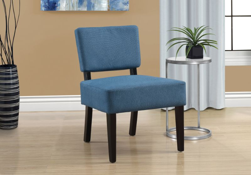 Accent Chair - Blue Fabric