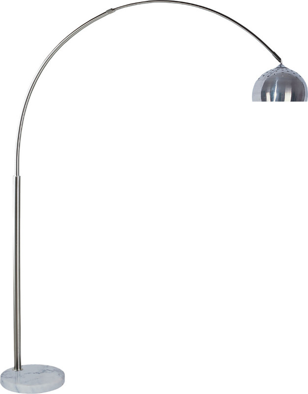 L76935 Brushed steel finish overhead arch floor lamp