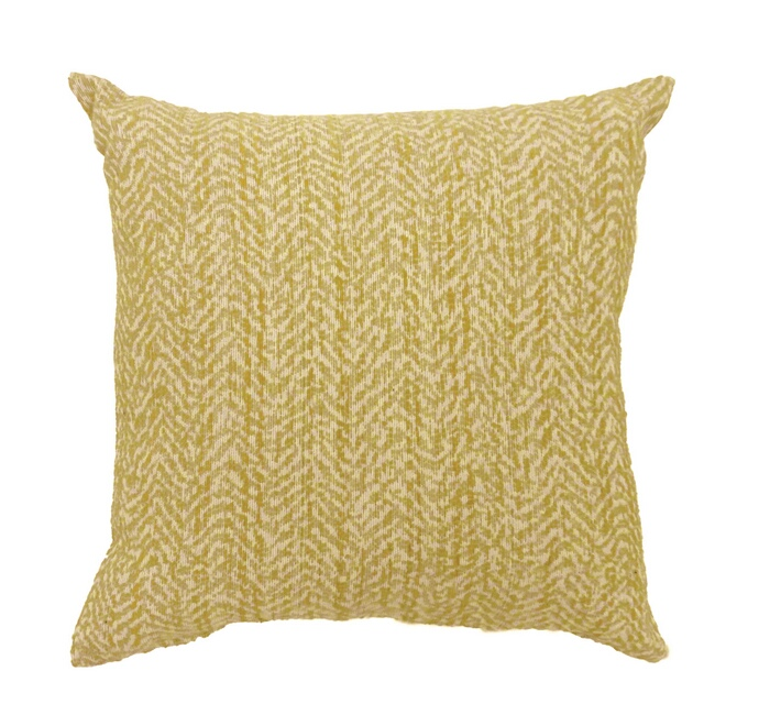 """PL679S Set of 2 gail yellow colored fabric 18"""" x 18"""" throw pillows"""