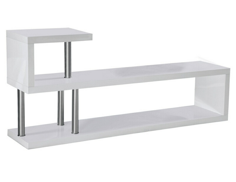 Best Master TR-4-WH Randell white finish wood modern style tv stand