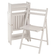 10415 Robin 4-Pc Folding Chair Set, White