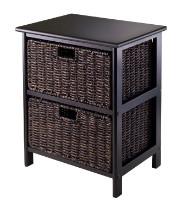 Omaha storage rack with 2 foldable baskets