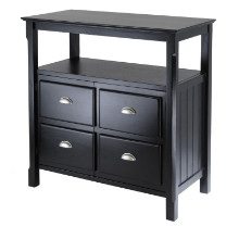 20236 Timber Buffet Cabinet, Sideboard, Black