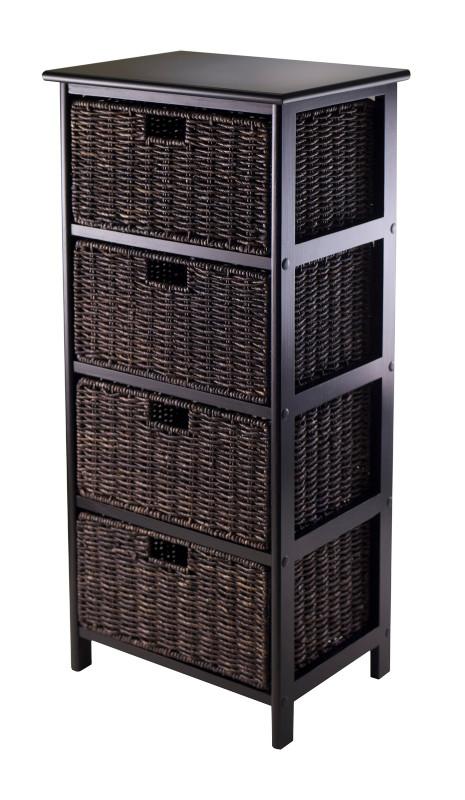 Omaha Storage Rack with 4 Foldable Baskets