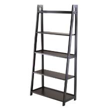 20513 Adam 5-Tier A-Frame Shelf, Black