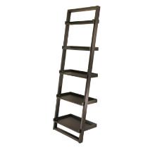 29525 Bailey 5-Tier Leaning Shelf, Black