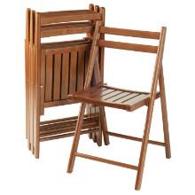33415 Robin 4-Pc Folding Chair Set, Teak