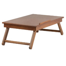 33623 Anderson Tilt Top Lap Desk with Drawer, Teak