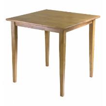 Groveland square dining table, shaker leg, light oak finish