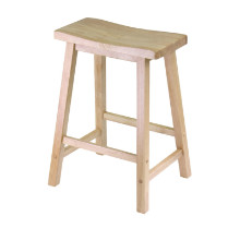 "Satori 24"" saddle seat bar stool beech"