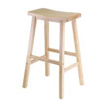 """Satori 29"""" saddle seat bar stool beech"""