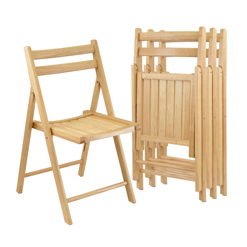 Robin 4-PC Folding Chair Set Natural