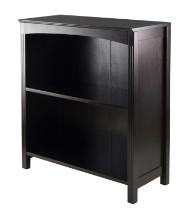 "Terrace storage shelf 3-tier 26"" wide in espresso"