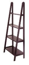 92428 Avalon 4-Tier A-Frame Shelf, Espresso