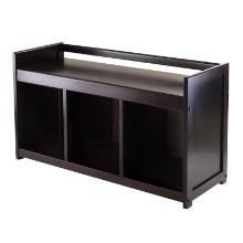 92439 Addison Entryway Storage Bench, Espresso