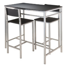 93336 Hanley 3-Pc High Table with 2 High Back Stools