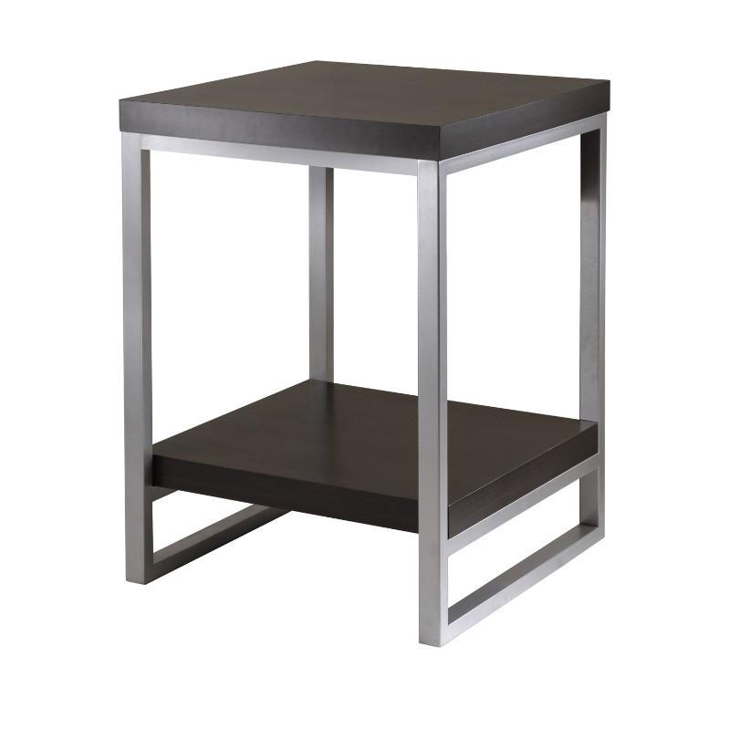 Jared End Table, Enamel Steel Tube