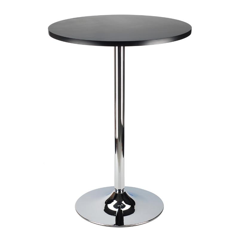 "Spectrum Pub Table 24"" Round, Black with Chrome"