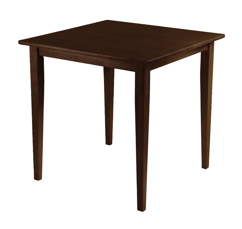 Groveland Square Dining Table, Shaker Leg, Antique Walnut Finish